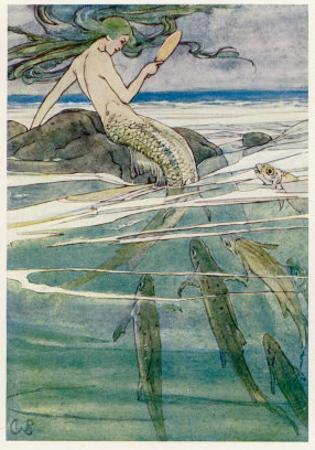 Peter Pan, Mermaid on a Rock by Alice B. Woodward