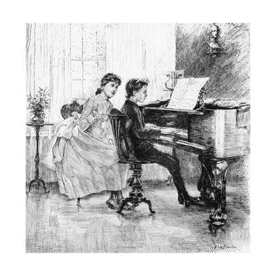 Music at Home - Children at the Piano, 1888