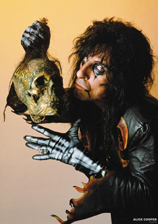 Alice Cooper- With Skull 1987