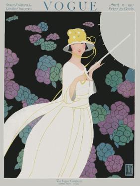Vogue Cover - April 1917 by Alice de Warenne Little