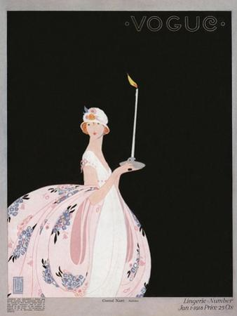 Vogue Cover - January 1918 by Alice de Warenne Little