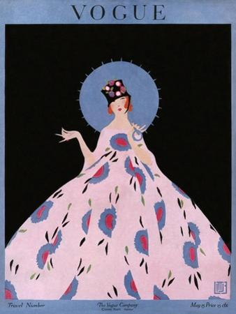 Vogue Cover - May 1916 by Alice de Warenne Little