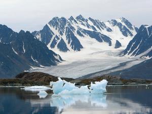 Receding Glacier, Liefderfjorden Fiord, Svalbard, Norway by Alice Garland