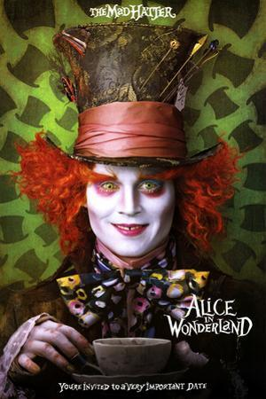 Alice in Wonderland Movie Mad Hatter Poster Print