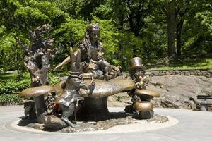 Alice in Wonderland Statue at Mid Park Quadrant in Central Park, New York