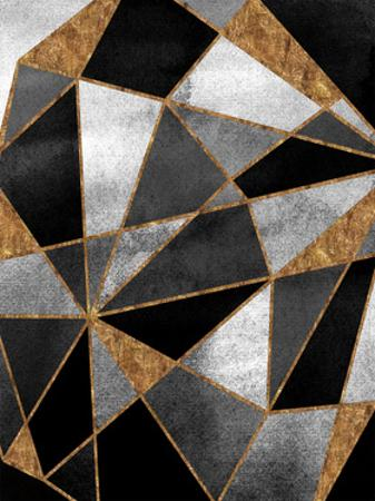 Black Geo Abstracted by Alicia Vidal