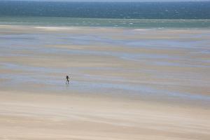 Africa, Western Sahara, Dakhla. Trist Walking Along the Beach of the Atlantic by Alida Latham