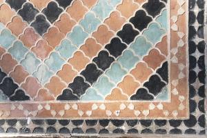 Azerbaijan, Sheki. A Geometric Pattern on the Side of the Palace of Shaki Khans by Alida Latham