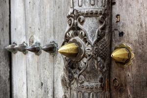 Close-Up of Traditional Carved Door, Stone Town, Zanzibar, Tanzania by Alida Latham