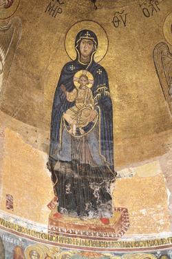 Georgia, Kutaisi. Religious Artwork Inside the Gelati Monastery by Alida Latham