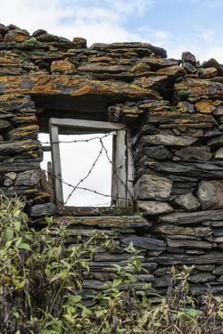 Georgia, Mtskheta, Juta. A Window in a Stone Wall, Covered with Barbed Wire by Alida Latham