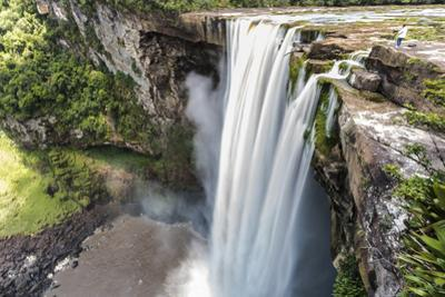 Guyana, Kaieteur Falls. View of Waterfall Flowing into Basin by Alida Latham
