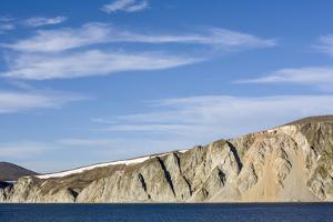 Russia, Chukotka, Provideniya, View of Cliff and Sea by Alida Latham