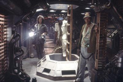 Alien, 1979 directed by Ridley Scott with Sigourney Weaver, Yaphet Kotto and Harry Dean Stanton (ph