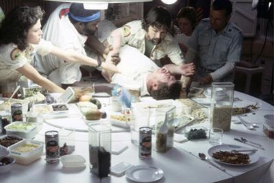Alien, 1979 directed by Ridley Scott with Sigourney Weaver, Yaphet Kotto, John Hurt, Tom Skerritt a
