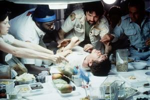 Alien, 1979 directed by Ridley Scott with Sigourney Weaver, Yaphet Kotto, Tom Sherritt, John Hurt a