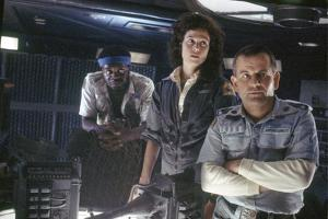 Alien, 1979 directed by Ridley Scott with Yaphet Kotto, Sigourney Weaver and Ian Holm (photo)