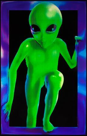 Alien Visitor Blacklight Responsive Poster