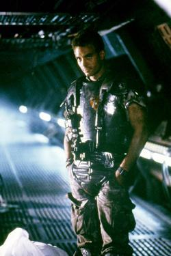 ALIENS, 1986 directed by JAMES CAMERON with Michael Biehn (photo)