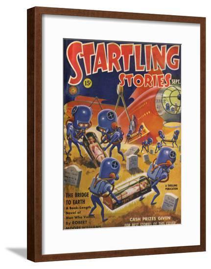 Aliens Grave Robbing--Framed Giclee Print