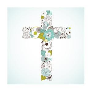 Beautiful Cross Made from Flowers by Alisa Foytik