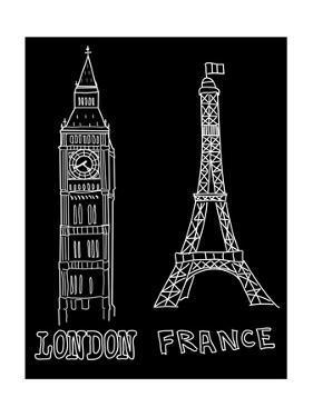 Big Ben and Eiffel Tower by Alisa Foytik