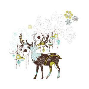 Christmas Deer by Alisa Foytik