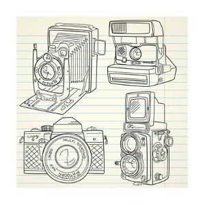 Cool Hand Drawn Old Camera Set, All Time Legends by Alisa Foytik