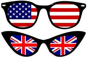 Cool Spectacles with American and British Flags by Alisa Foytik
