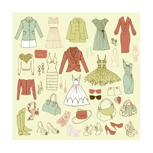 Fashion Hand Drawn Doodle Set by Alisa Foytik