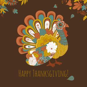 Happy Thanksgiving Beautiful Turkey Card by Alisa Foytik