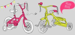 Kids Bicycles, a Girls Bike and a Tricycle by Alisa Foytik