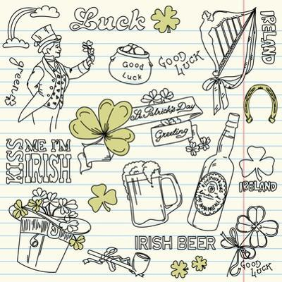 Saint Patrick's Day Doodles - Vintage Style by Alisa Foytik