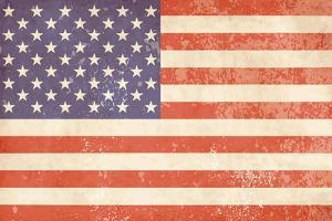 Vintage American Flag by Alisa Foytik