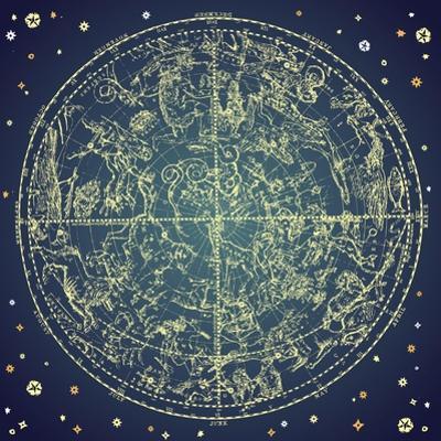 Vintage Zodiac Constellation Of Northern Stars by Alisa Foytik
