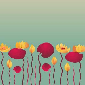 Water Lily Background by Alisa Foytik