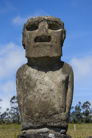 Akivi, Easter Island, Chile. Moai Looking into the Faraway Ocean by Aliscia Young