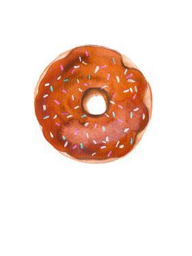 Choc Doughnut by Alison B Illustrations