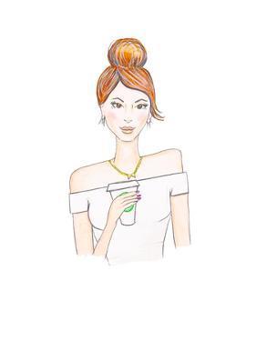 Coffee Brunette by Alison B Illustrations