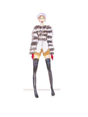 Fur Jacket by Alison B Illustrations