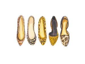 Leopard Line Up by Alison B Illustrations