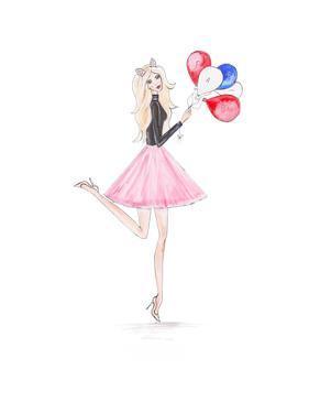 Paris Ballons by Alison B Illustrations