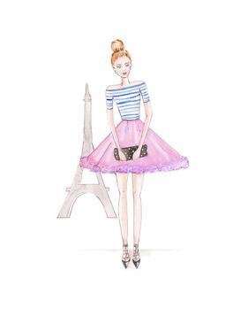 Paris Purple by Alison B Illustrations