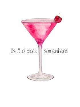Pink Cocktail by Alison B Illustrations