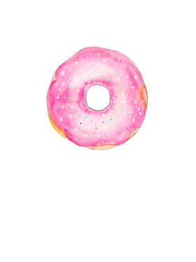 Pink Doughnut by Alison B Illustrations