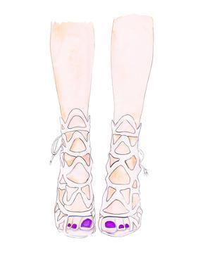 White Shoe by Alison B Illustrations
