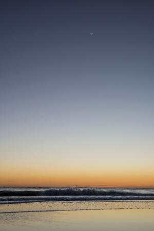 California, Carpinteria, Santa Barbara Channel, Beach at a Night by Alison Jones