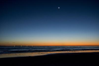 California, Carpinteria, Santa Barbara Channel, Beach at Low Tide by Alison Jones