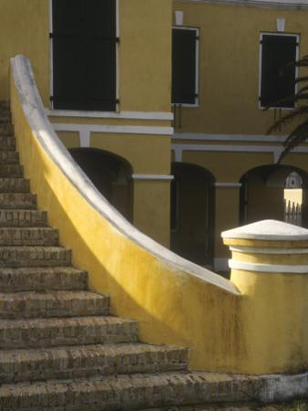 Customs House Exterior Stairway, Christiansted, St. Croix, US Virgin Islands by Alison Jones