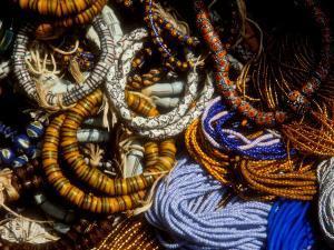Detail of Beads for Jewelry Making, Makola Market, Accra, Ghana by Alison Jones
